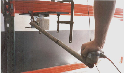 Measuring down force at different handle lengths - Geared Winch